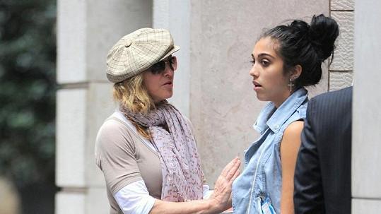 Zpěvačka Madonna s dcerou Lourdes.