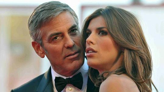 Byli nádherný pár: George Clooney a Elisabetta Canalis v době svého největšího štěstí.