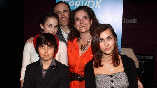 Ivan Pilip s rodinou.