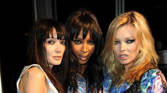 Annabelle (vlevo) s Naomi Campbell a Kate Moss