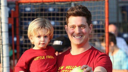 Michael Bublé se synem Noahem