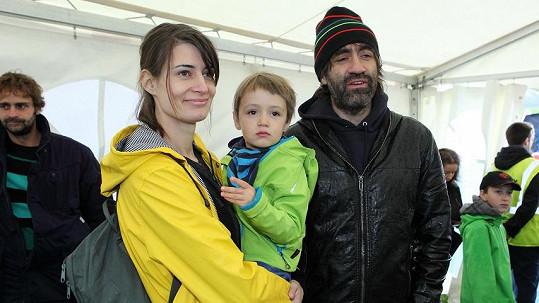 Jakub Kohák s rodinkou