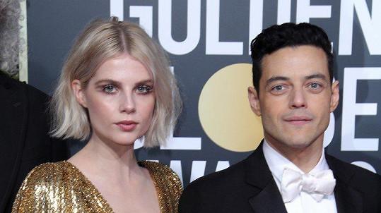 Rami Malek s partnerkou Lucy Boynton