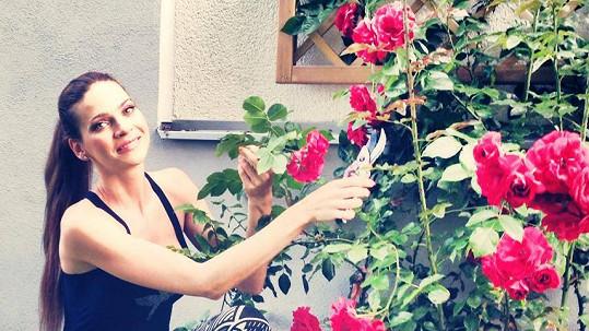 Andrea Verešová má krásnou zahrádku.