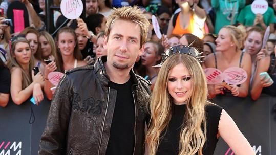 Avril Lavigne a její manžel Chad Kroeger.