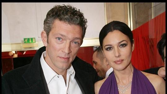 Monica Bellucci a Vincent Cassel už netvoří pár.