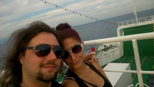 Felix Junior s přítelkyní Míšou na dovolené