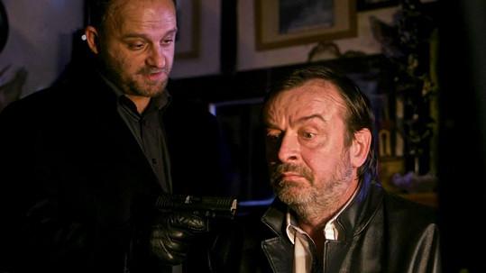 Alexej Pyško (vpravo) s Hynkem Čermákem ve filmu Gangster Ka