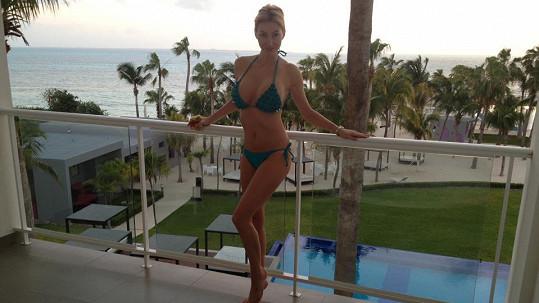 Dominika Mesarošová si užívá sluníčka v Mexiku.