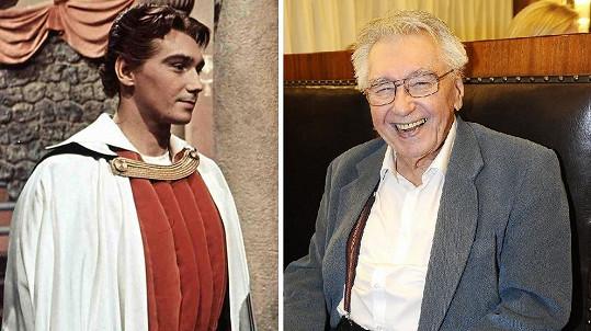 Josef Zíma jako princ Radovan v roce 1959 a nyní