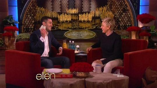Ellen DeGeneres předala Edgarovi zasloužené spropitné.