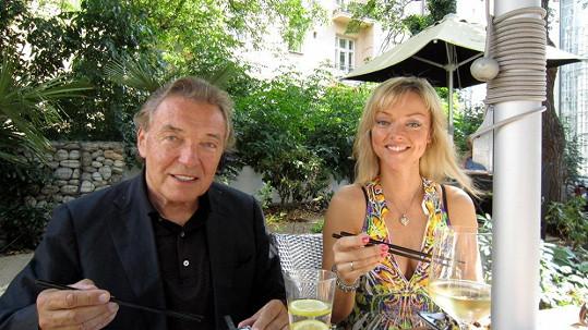 Karel Gott s dcerou Dominikou