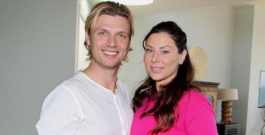 Nick Carter se svou snoubenkou Lauren Kitt.