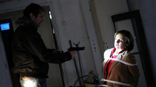 Veronika Freimanová natáčela akční scénu.