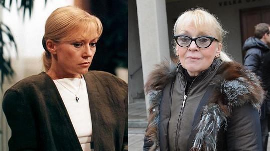 Kateřina Macháčková před 18 lety a nyní