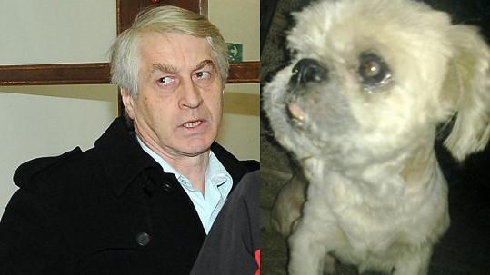 Josef Rychtář a pes Max, na němž se měl neblaze podepsat.