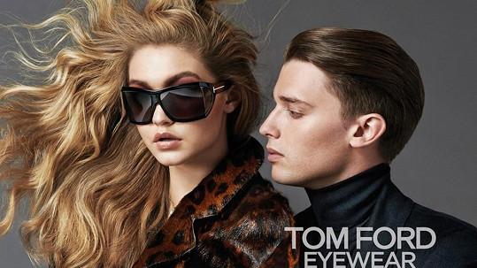 Patrick v kampani s modelkou Gigi Hadid