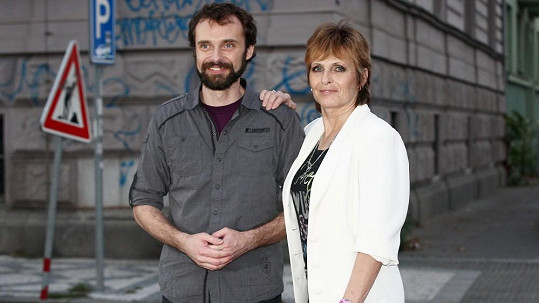 Waldemar Matuška junior s maminkou Olgou