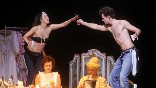 Radúz Mácha a Jana Janěková mladší si společně zahráli v divadle.