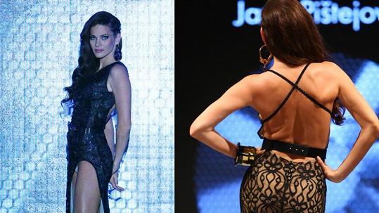 Andrea Verešová ukázala kalhotky i dost pomačkaná záda.