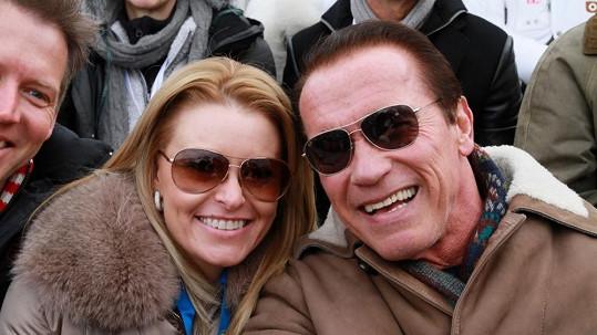 Arnold Schwarzenegger s přítelkyní Heather Milligan