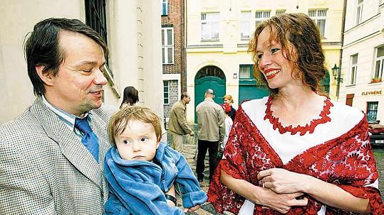 Samuel a Sára Saudkovi se synem Samuelem