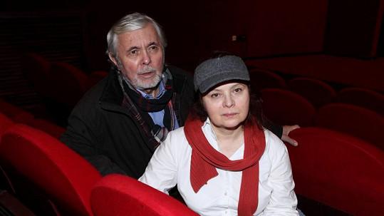 Libuška Šafránková s manželem Josefem Abrhámem