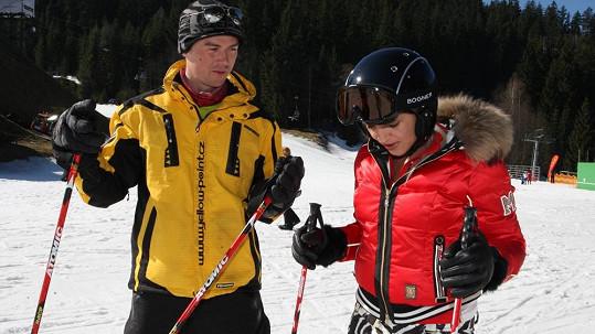 Mirjam Landa po dlouhé době lyžovala.