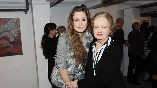 Blanka Bohdanová s vnučkou Alžbětou