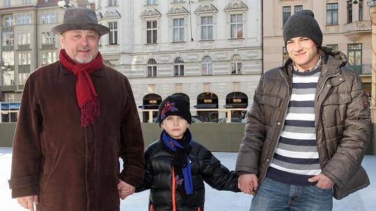 Michal Pavlíček se syny Matyášem a Honzou