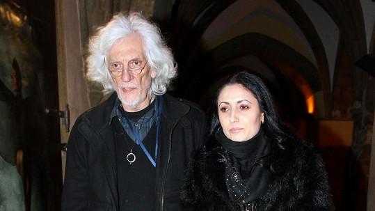 Petr Hapka s dcerou.