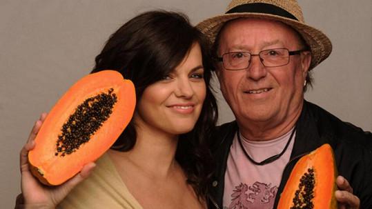 Marta Jandová a její otec Petr Janda
