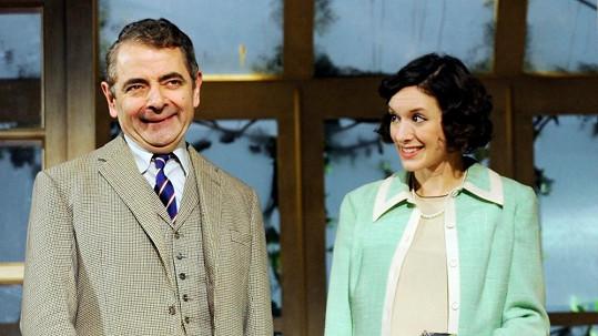 Rowan Atkinson poznal půvabnou Louise díky společné divadelní hře.