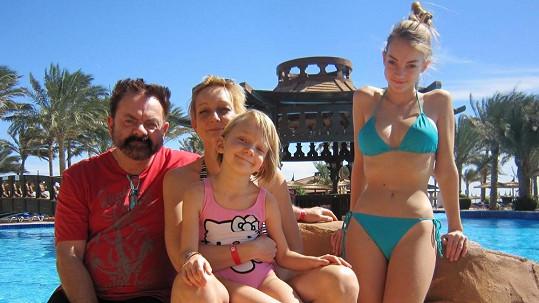 Václav Upír Krejčí si s rodinkou užíval sluníčka v Egyptě.