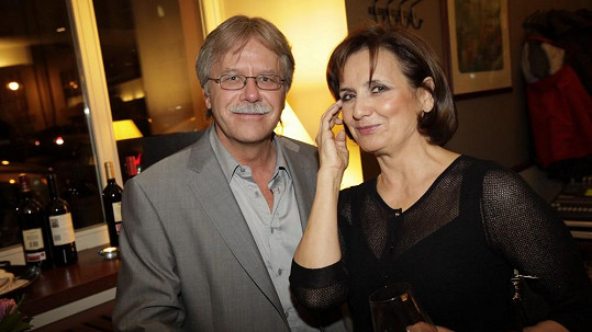 Veronika i Vladimír vypadali zamilovaně.