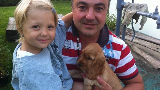 Martin Zounar s dcerkou Claudií