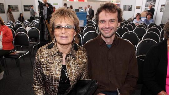Olga Matušková se synem