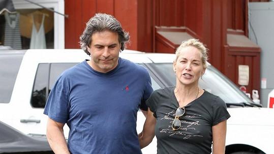 Sharon Stone s novým přítelem Michaelem