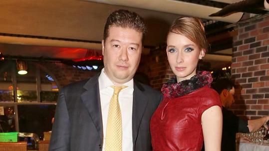 Tomio Okamura s přítelkyní Monikou Talašovou