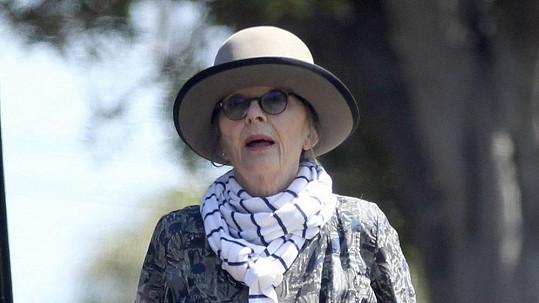 Herečka Diane Keaton nikdy módu moc neřešila.