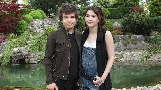 Celeste s přítelem Martinem Harichem