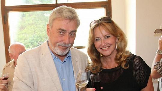 Jan Rosák s manželkou.