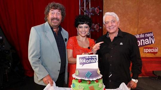 Mezi hosty Krampola nechyběli ani Zdeněk Troška a Lucie Bílá.