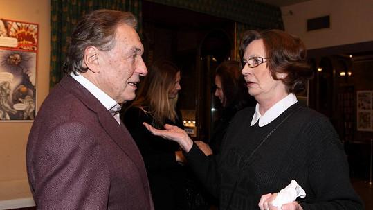 Karel Gott a Evelyna Steimarová si pořád mají co říct.