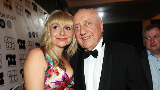 Felix Slováček s dcerou René.