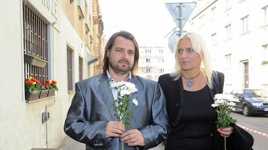 Zdeněk Macura s asi již svou bývalou přítelkyní