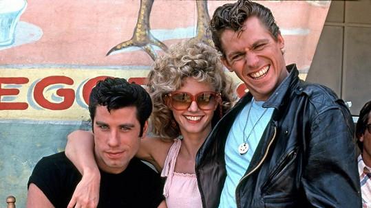 John Travolta s Olivií Newton-John a dnes již zesnulým Jeffem Conawayem