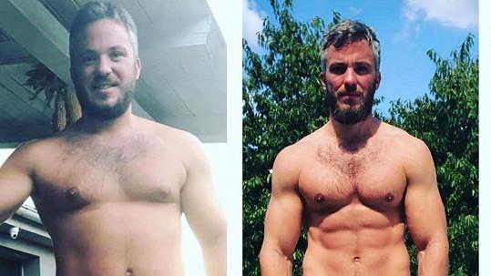 Přítel Alice Bendové Michal Topol se obul do diety a cvičení a výsledky jsou znát.