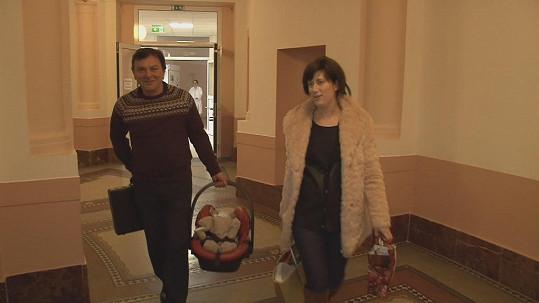 Pavel Trávníček s manželkou Monikou a synem