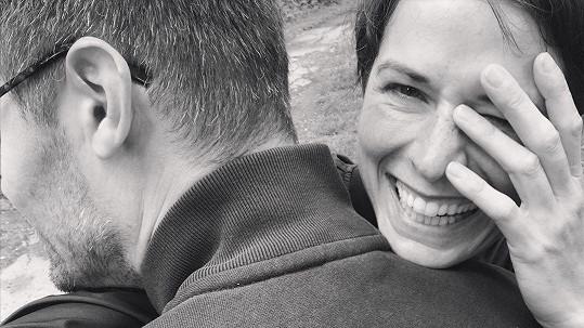 Iveta Kořínková s partnerem